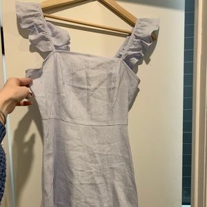 NWT Forever 21 Periwinkle Ruffle Dress